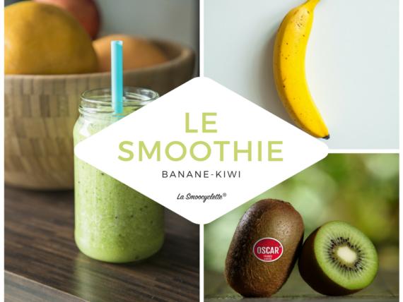 La recette du smoothie banane-kiwi avec la Smoocyclette