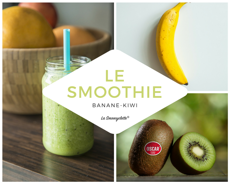 recette smoothie banane kiwi avec la smoocyclette. Black Bedroom Furniture Sets. Home Design Ideas
