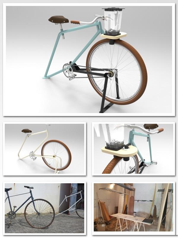 Les images de la modelisation 3D de la smoocyclette
