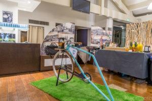 La Smoocyclette à la brasserie de l'Aviron Bayonnais avant la soirée