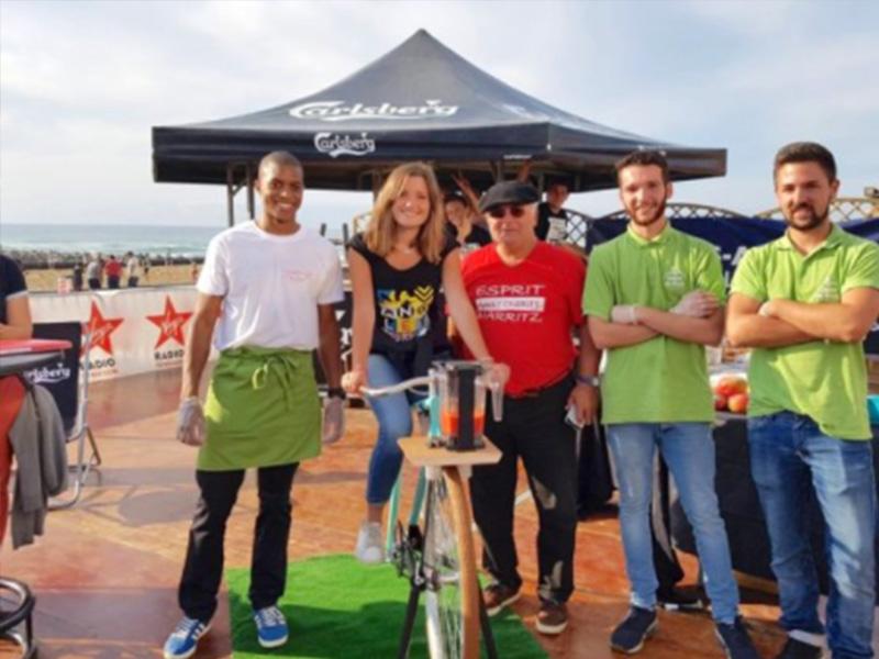 Notre animation vélo-smoothie sur la plage avec Cœur de Frais