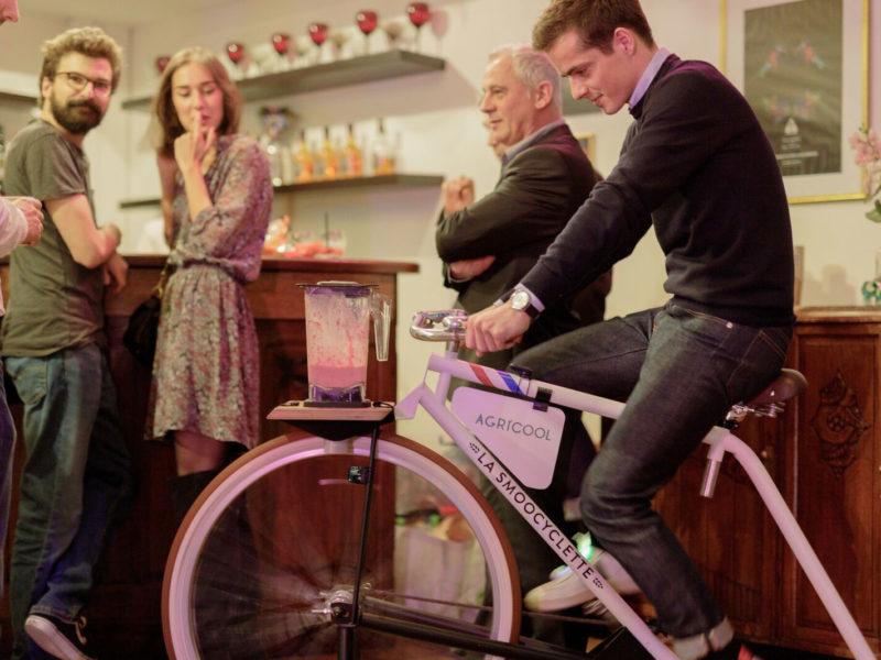 Notre vélo-smoothie Agricool suscite la curiosité