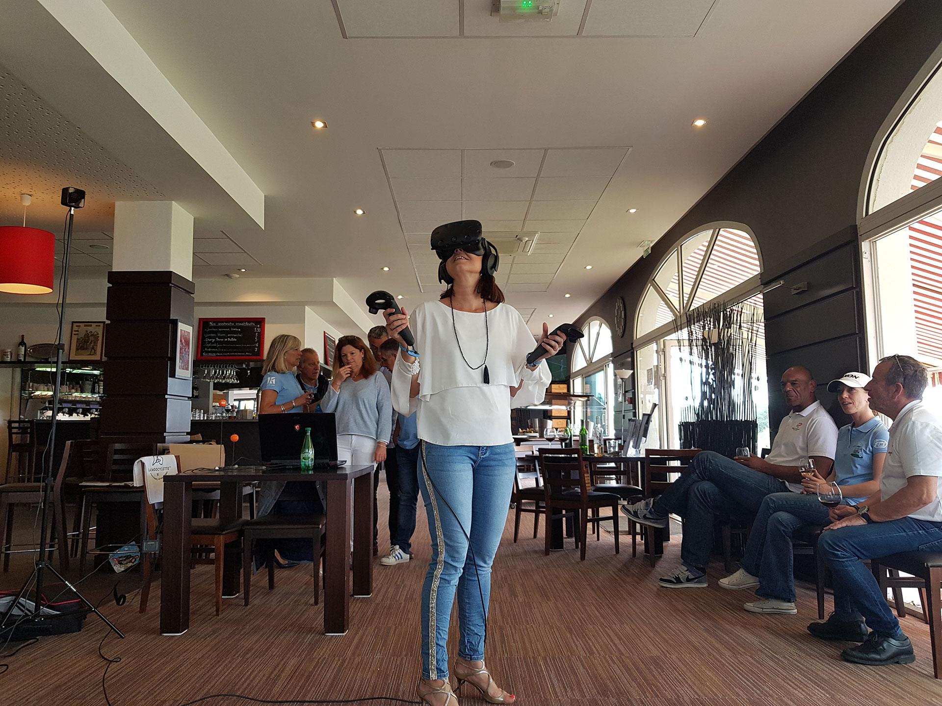 [POZA] La réalité virtuelle au 12e Open de Golf de l'Aviron Bayonnais Rugby Pro