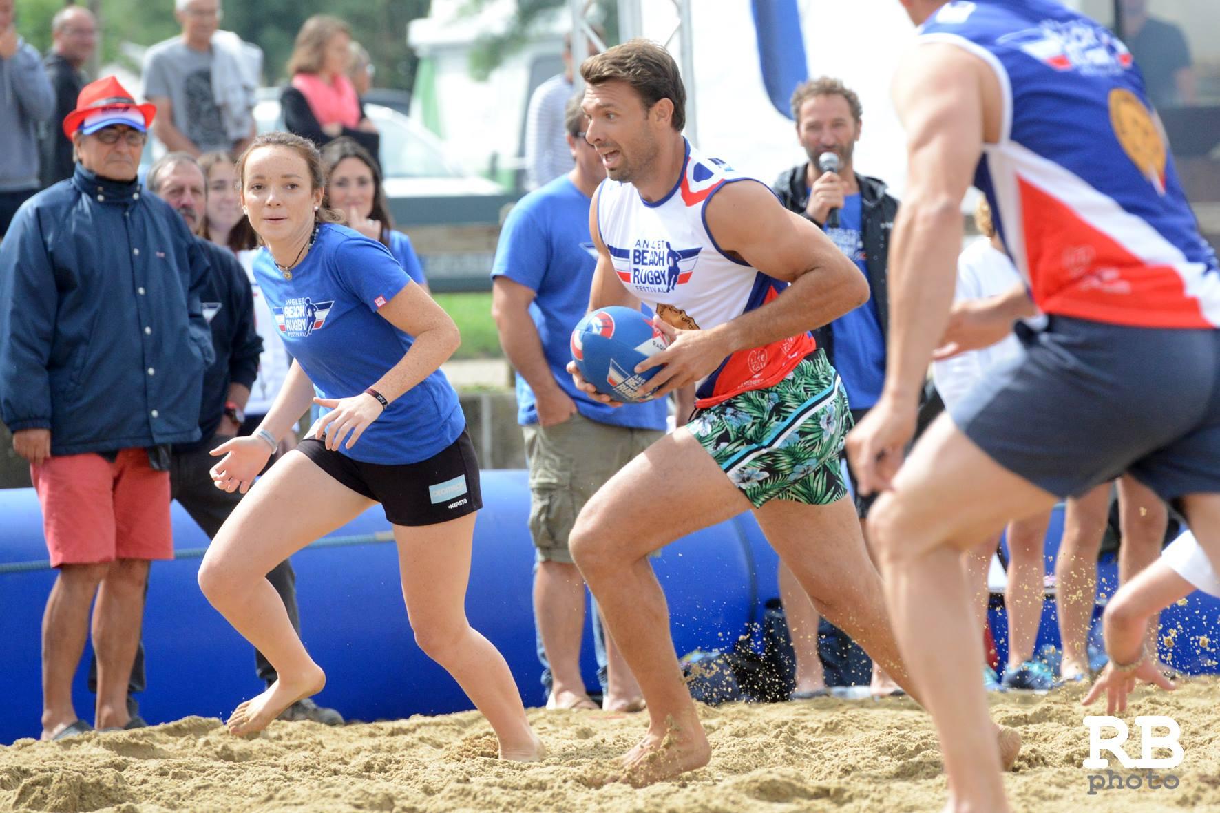 La Smoocyclette® lors de la 16e édition de l'Anglet Beach Rugby festival